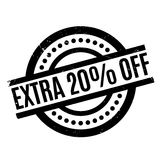 Extra 20 Off rubber stamp. Grunge design with dust scratches. Effects can be easily removed for a clean, crisp look. Color is easily changed Royalty Free Stock Photo