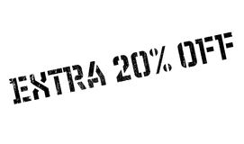 Extra 20 Off rubber stamp. Grunge design with dust scratches. Effects can be easily removed for a clean, crisp look. Color is easily changed Stock Photography