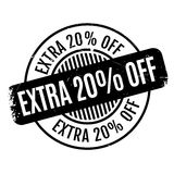 Extra 20 Off rubber stamp Royalty Free Stock Images