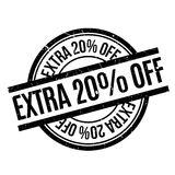 Extra 20 Off rubber stamp Royalty Free Stock Photo