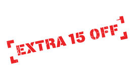 Extra 15 Off rubber stamp Stock Photo