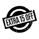 Extra 15 Off rubber stamp Stock Photos