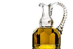 Extra olive oil in elegant old jar Royalty Free Stock Photos
