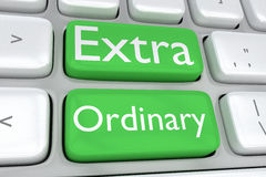 Extra Ordinary concept Stock Images