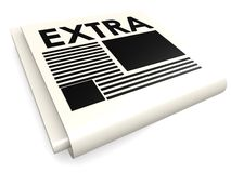 Extra paper Royalty Free Stock Image
