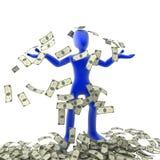 extra pengar Arkivbild