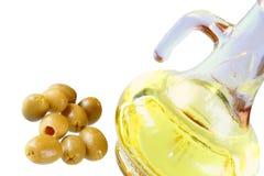 Extra-reines Olivenöl und gre lizenzfreie stockfotografie