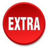 Extra button. Extra round button isolated on white background. extra stock illustration