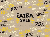 Extra sale banner. Original poster for discount. Bright abstract background with text. Vector illustration. super sale royalty free illustration