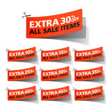Extra Sale coupons Stock Photography