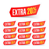 Extra sale discount labels royalty free illustration