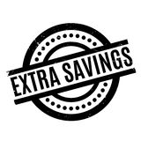 Extra Savings rubber stamp. Grunge design with dust scratches. Effects can be easily removed for a clean, crisp look. Color is easily changed stock illustration