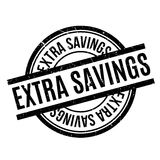 Extra Savings rubber stamp. Grunge design with dust scratches. Effects can be easily removed for a clean, crisp look. Color is easily changed royalty free illustration
