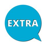 Extra with shadow, Speech Bubble. Speech Bubble extra with shadow, vector icon stock illustration