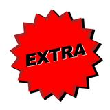 Extra Sign. Red extra sign - web button - internet design royalty free illustration