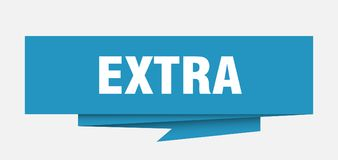 Extra. Sign.  paper origami speech bubble.  tag.  banner royalty free illustration