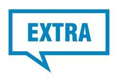 Extra speech bubble. Extra isolated sign.  extra vector illustration