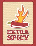 Extra spicy Royalty Free Stock Images
