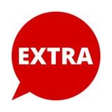 Extra, Sprache-Blase lizenzfreie abbildung