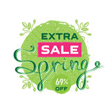 Extra Spring sale banner or poster design. Print Design for Seas Royalty Free Stock Photography