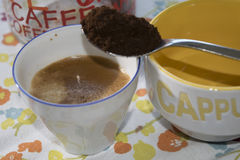Extra Sterke Koffie Royalty-vrije Stock Foto's