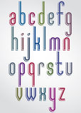 Extra tall font, light condensed letters with rounded corners. Extra tall font, light condensed letters with rounded corners, vector alphabet. Lowercase set Stock Images