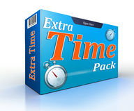 Extra time pack conceptual offer pack. On white backgound vector illustration