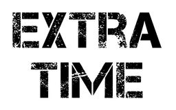 Extra Time stamp typ. Extra Time stamp. Typographic label, stamp or logo Royalty Free Stock Photography