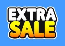 Extra Verkoop, afficheontwerpsjabloon, geïsoleerde sticker, vectorillustratie stock illustratie