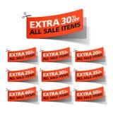 Extra Verkoopcoupons Stock Fotografie