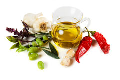 Extra virgin olive oil Royalty Free Stock Photos