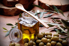 Extra virgin (olive) oil Royalty Free Stock Image