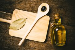 Extra virgin olive oil old kitchen. Stock Images