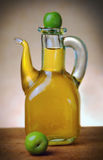 Extra virgin olive oil bottle Royalty Free Stock Photo