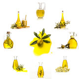 Extra virgin olive oil  collection set  isolated Royalty Free Stock Photos