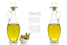 Extra Virgin Olive Oil. Design Template Isolated on White Stock Photos