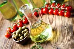 Extra Virgin Olive Oil, Mediterranean rural theme Stock Photos