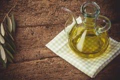 Extra virgin olive oil Stock Photo