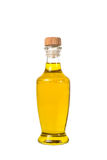 Extra virgin olive oil and sunflowerseed oil jars isolated on a. White background,bottle oil plastic big ,Bottle for new design,Small bottle of oil with cork Royalty Free Stock Photo