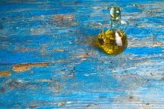 Extra virgin olive oil vintage bottle Royalty Free Stock Image