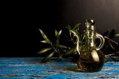 Extra virgin olive oil vintage cruet Royalty Free Stock Images