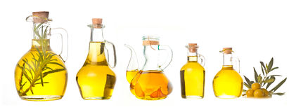 Extra virgin olive oils isolated Stock Photo