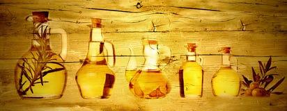 Extra virgin olive oils wood texture Stock Photo