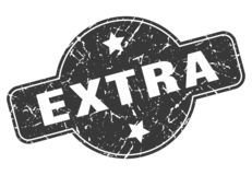 Extra zegel royalty-vrije illustratie