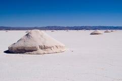 Extracción de la sal, la Argentina Imagen de archivo