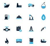 Extracción de los iconos del aceite fijados ilustración del vector