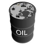 Extracción del petróleo products-1 Imágenes de archivo libres de regalías