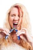 Extracción rápida del diente Fotografía de archivo libre de regalías