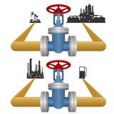 Extracción y proceso de productos petrolíferos Imagen de archivo libre de regalías