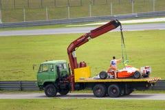 Extracción del coche de carreras Fotografía de archivo libre de regalías